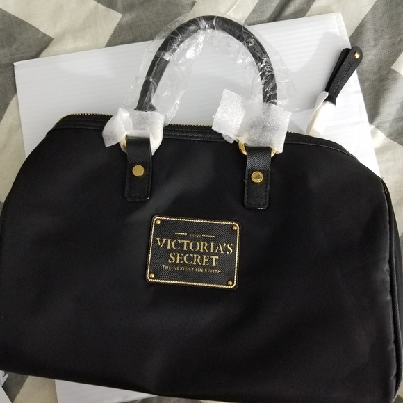 ab500c75dd30a Victoria's Secret Logo Black Nylon Speedy Handbag